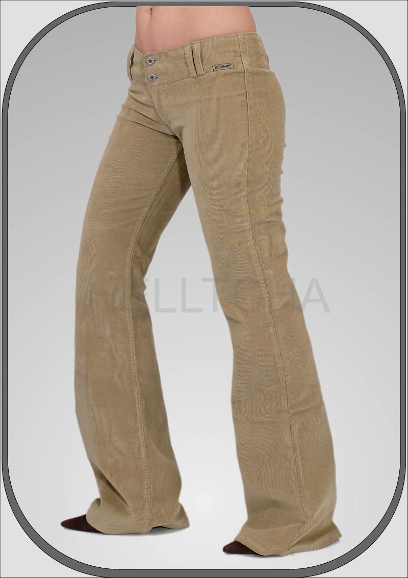 Dámské manšestrové béžové kalhoty 5209 79651b581b
