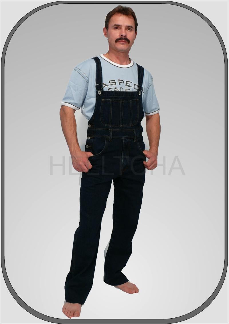 f9469ce4e88 Pánské jeansové tmavě modré lacláče dl. 34