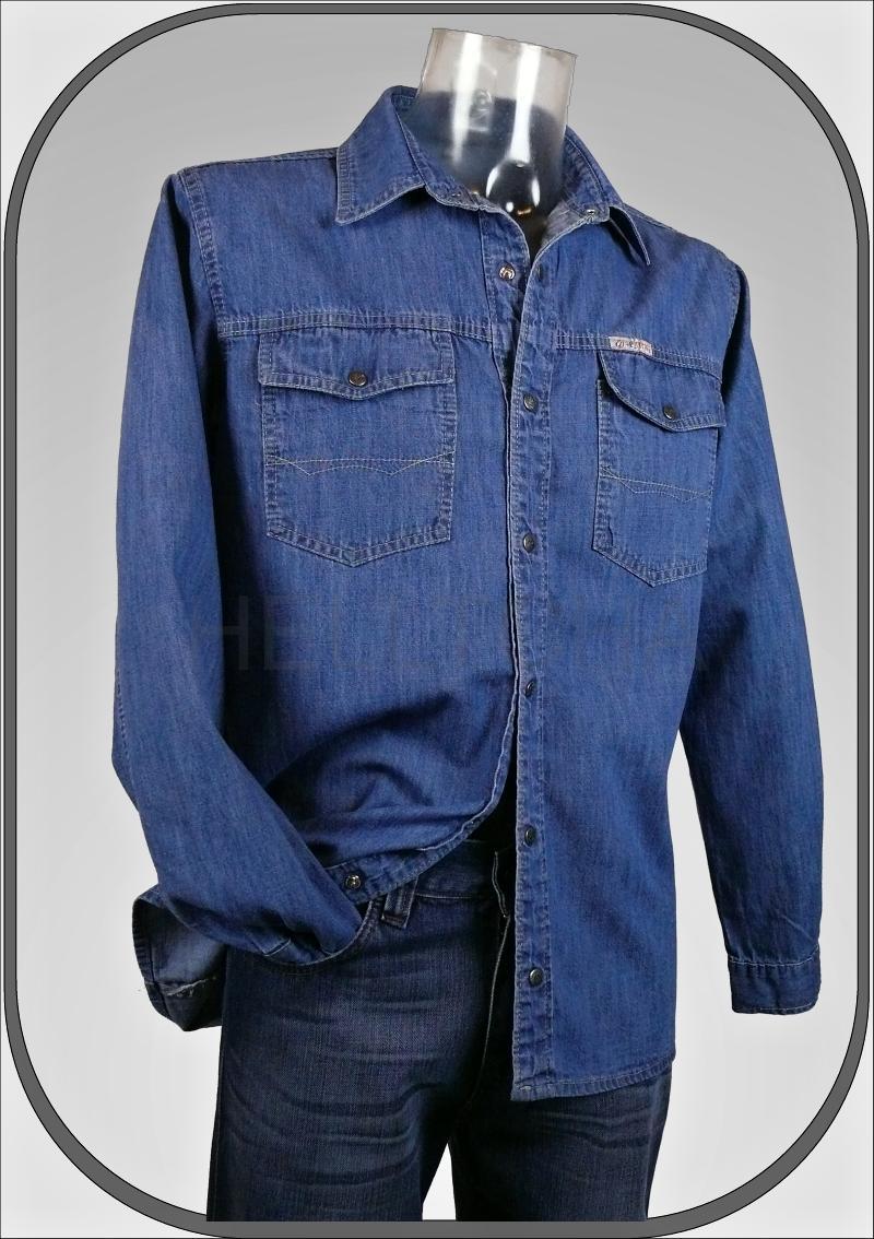 Světlá pánská riflová košile 185 1aa35be9d8